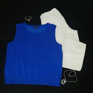 Cable and Gauge Sleeveless Sweater